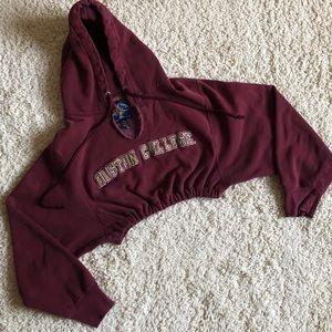 Boston College maroon cropped sweatshirt hoodie